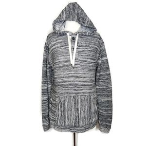 American Eagle Marled Knit Hooded Sweater Large